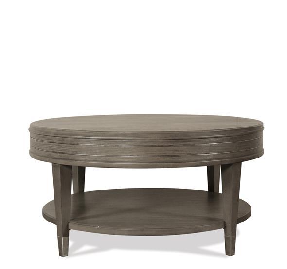 Dara II Round Coffee Table Gray Wash Finish