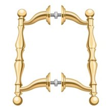 Off-Set Handle Pull, Back-To-Back Set - PVD Polished Brass