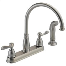 Stainless Two Handle Kitchen Faucet
