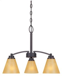 3 Light Chandelier in Oil Rubbed Bronze