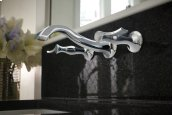 Two-handle Wall Mount Lavatory Faucet
