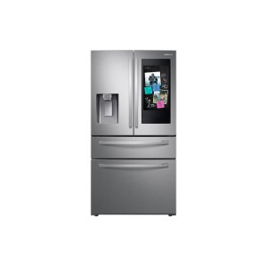 "Samsung Appliances22 cu. ft. 4-Door French Door, Counter Depth Refrigerator with 21.5"" Touch Screen Family Hub in Stainless Steel"