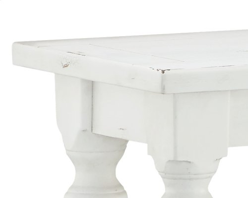 Emerald Home Abaco Sofa Table, Country White T848-02