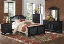 Cottage Traditions Black Large Night Stand