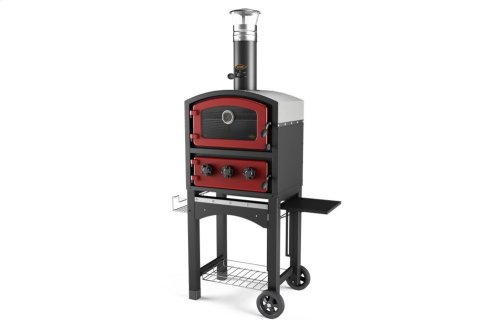 Fornetto Wood Fired Oven and Smoker - Red