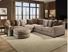 1400 Homespun Stone Sectional Product Image