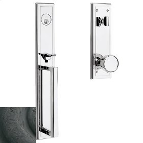 Distressed Oil-Rubbed Bronze Hollywood Hills Full Escutcheon Handleset