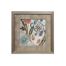 Framed print under glass of Royal Tapestry I