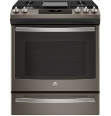 Slide-In Front Control, Premium Slate Appearance, 5.6 cu. Ft. Self-Cleaning Convection Gas Range