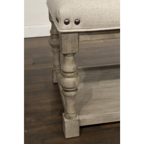 Juniper - 54-inch Upholstered Dining Bench - Natural Finish