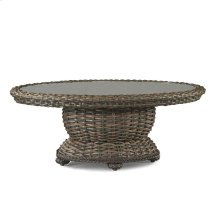 South Hampton Oval Cocktail Table_W/Glass