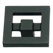 Nobu Square Knob 1 3/8 Inch - Matte Black