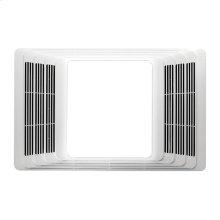 Heater/Light, White Plastic Grille, 100W Light
