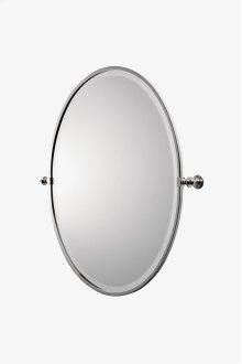 "Crystal Metal Oval Wall Mounted Tilting Mirror 25 7/16"" x 29 15/16"" x 2 3/4"" STYLE: CRMR43"