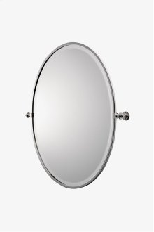 "Crystal Metal Oval Wall Mounted Tilting Mirror 25 7/16"" x 29 15/16"" x 2 3/4"" STYLE: CRMR43"