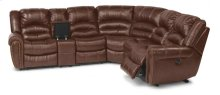 Crosstown Leather Reclining Sectional