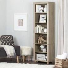 Narrow 6-Shelf Bookcase - Rustic Oak