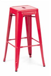 Detroit - Modern Red Metal Barstool (Set of 2)