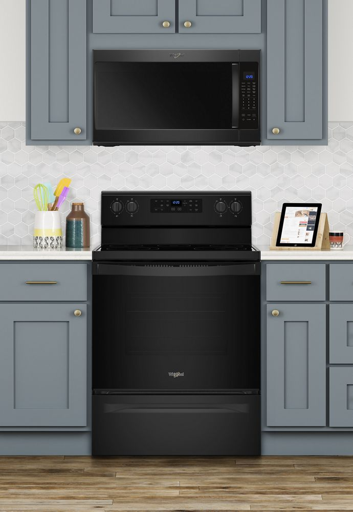 Whirlpool 2 1 Cu Ft Over The Range Microwave With Steam Cooking