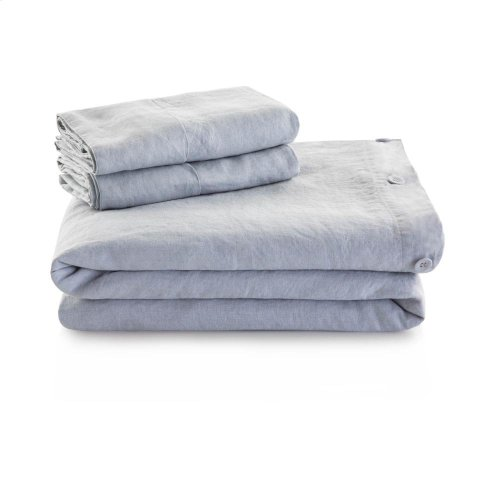 French Linen Duvet Set - King Charcoal