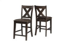 Spencer Non-swivel Counter Stool - Set of 2 - Dark Espresso (wirebrush)