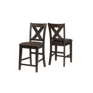 Hillsdale FurnitureSpencer Non-swivel Counter Stool - Set of 2 - Dark Espresso (wirebrush)