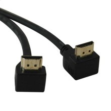 High Speed HDMI Cable with 2 Right Angle Connectors, Ultra HD 4K x 2K, Digital Video with Audio (M/M), 6-ft.
