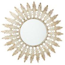 Distressed Ivory & Gold Leaf Wall Mirror