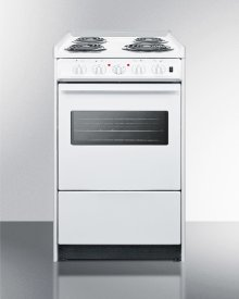 "20"" Wide Slide-in Electric Range In White With Oven Window, Light, and Lower Storage Compartment; Replaces Wem115r/wem110wrt"