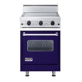 """Cobalt Blue 24"""" Griddle Companion Range - VGIC (24"""" wide range with griddle/simmer plate, single oven)"""