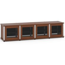 Synergy Solution 247, Quad-Width AV Cabinet, Cherry with Aluminum Posts