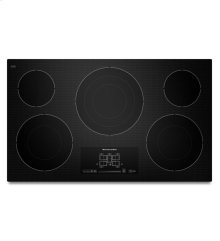 36-Inch, 5 Element Electric Cooktop with Even-Heat Technology and Touch-Activated Controls - Black