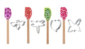 12 set ppk Flower Spatula with Cookie Cutter