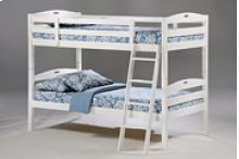 Sesame Twin Twin Bunk in White Finish