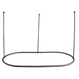 """Oval Shower Curtain Ring - 60"""" x 36"""" - Brushed Nickel"""