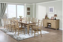 Sunset Trading 12 Piece Brook Rectangular Extension Dining Set with Sideboard - Sunset Trading