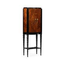 Black Barleytwist Drinks Cabinet