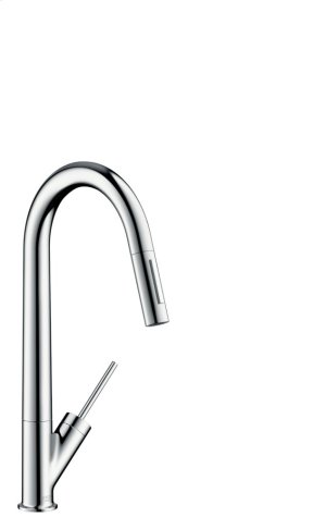 Chrome Single lever kitchen mixer with pull-out spray Product Image