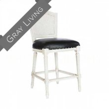 Ethan Counter Stool in Leather/Cane Back