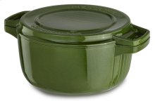 Professional Cast Iron 6-Quart Casserole - Ivy Green