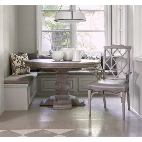Aspen Round Dining Table - Rustic Grey