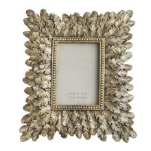 Champagne Feather Photo Frame Small