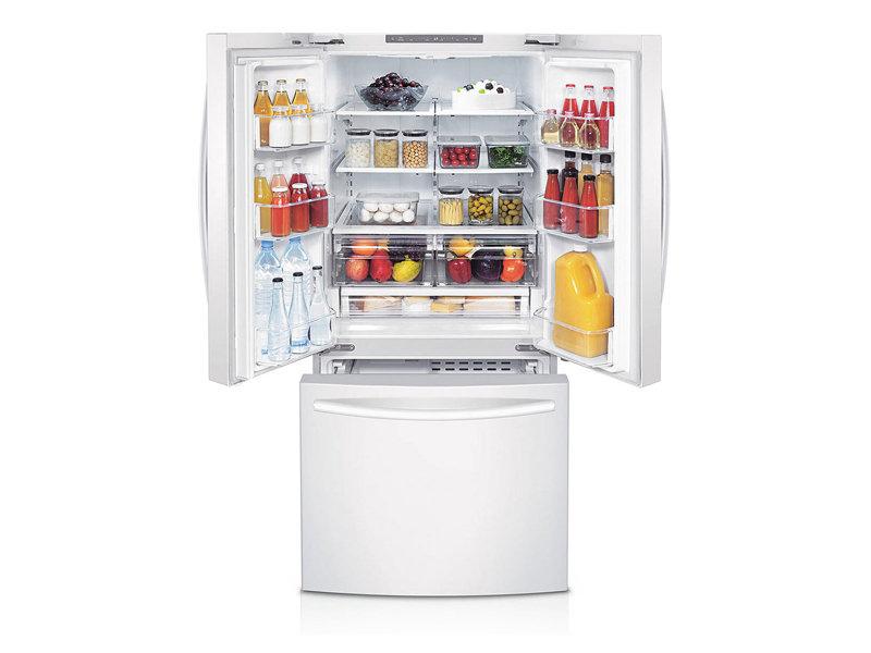 Rf220nctawwsamsung 22 Cu Ft French Door Refrigerator White Hahn