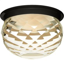 Visual Comfort S7000BLK-CG Studio Hillam LED 6 inch Black Flush Mount Ceiling Light