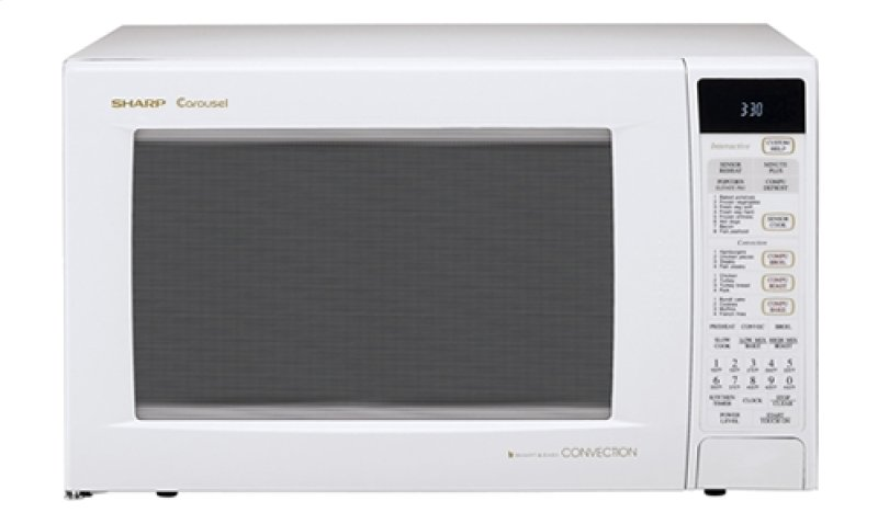 Sharp Carousel Countertop Convection Microwave Oven 1 5 Cu Ft 900w White