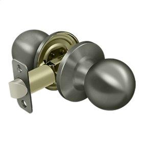 Round Knob Passage - Antique Nickel