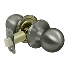 Round Knob Passage - Antique Nickel