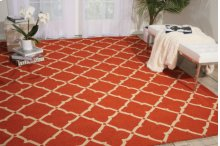 Portico Por01 Orange Rectangle Rug 10' X 13'