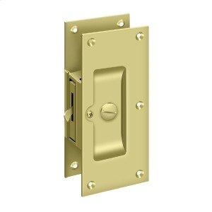 """Decorative Pocket Lock 6"""", Privacy - Polished Brass"""