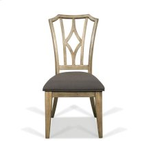 Corinne Upholstered Diamond Back Side Chair Sun-drenched Acacia finish